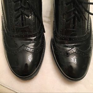 Sperry Shoes - Sperry Ashbury Patent Leather Black Wingtip Oxford